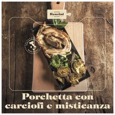 Porchetta Tiède Avec Artichauts